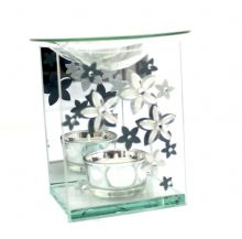 Glass Floral Oil Burner